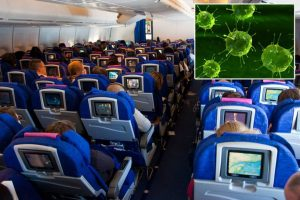 Bacteria on aircraft